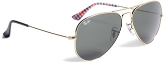 Brooks Brothers Ray-Ban Aviator Sunglasses with Gingham