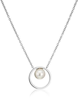 Skagen Agnethe Short -Tone Pearl Pendant Necklace