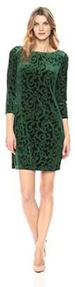 Jessica Howard Women's 3/4 Sleeve Shift Dress