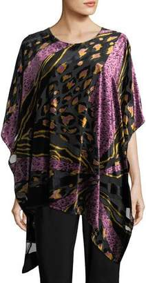 Caroline Rose Party Animal Devore Velvet Caftan, Petite