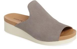 Women's Lucky Brand Finela Slide Sandal $88.95 thestylecure.com