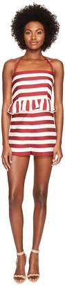 RED Valentino Striped Cotton Romper Women's Jumpsuit & Rompers One Piece