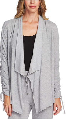 Vince Camuto Drawstring-Sleeve Draped Cardigan