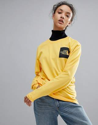 The North Face Fine Long Sleeve Top in Yellow