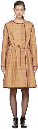 Isabel Marant Tan Velvet Long Geist Coat