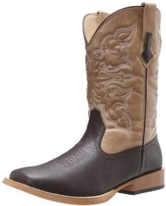 Roper Men's Ostrich Print Square Toe Cowboy Boot 8.5 D - Medium