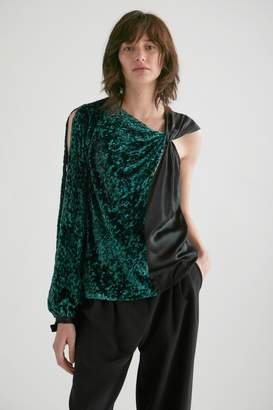 Yigal Azrouel Lurex Velvet One Shoulder Top