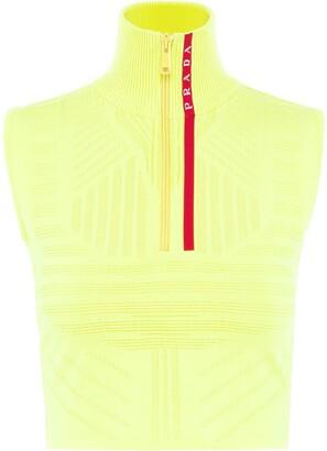 Prada technical sleeveless jumper