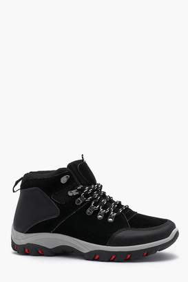 boohoo Faux Suede Hiker Boot