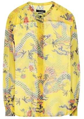 Isabel Marant Daws silk-blend shirt
