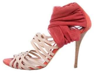 Fendi Multistrap Peep-Toe Sandals