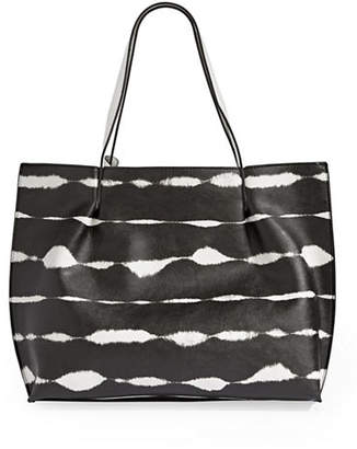 Kensie Tie-Dye Stripe Large Tote Bag
