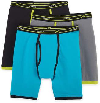 8ce316174aa5 Hanes Men s X-Temp Active FreshIQ Long Leg Boxer Brief 3-Pack