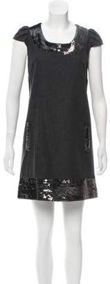 Calypso Sequin Embellished Wool Dress