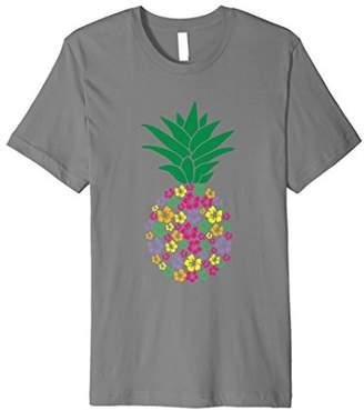 Aloha Beaches Hawaii T-Shirt Vintage Pineapple Flowers Shirt