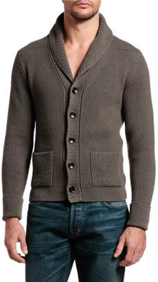 Tom Ford Men's Cashmere Shawl-Collar Cardigan Sweater