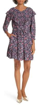 Rebecca Taylor Floral Ruffle Toile Dress