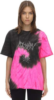 Misbhv TIE DYED COTTON JERSEY T-SHIRT