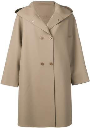 Max Mara hooded double-breasted coat