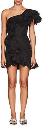 Isabel Marant Women's Jiska Cotton Poplin One-Shoulder Dress