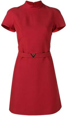 Valentino structured belted mini dress