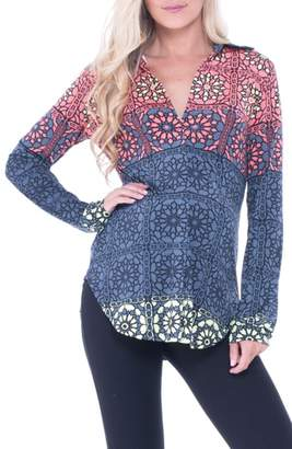 Olian Print Maternity Top