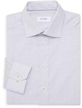 Eton Slim-Fit Micro Check Dress Shirt