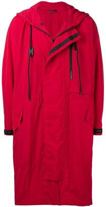 Issey Miyake hooded raincoat