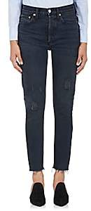 RE/DONE Women's High Rise Ankle Crop Jeans - Black
