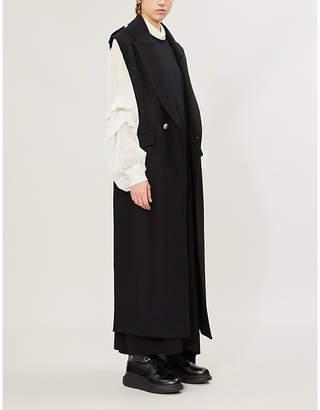 Ann Demeulemeester Cutout-back stretch-jersey dress