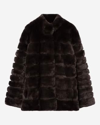 N.Peal Rex Fur Ribbed Jacket