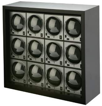 Diplomat 31-403-12 Boxy Carbon Fiber Brick Watch Winder (Pack of 12)