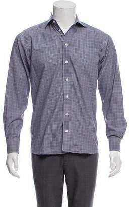 Eton Checkered Button-Up Shirt