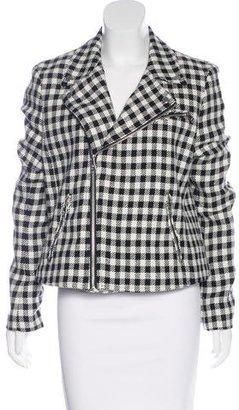 Lauren Ralph Lauren Houndstooth Moto Jacket w/ Tags $95 thestylecure.com