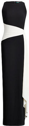Ralph Lauren Lauren Color-Blocked Jersey Gown $180 thestylecure.com