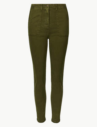 Marks and Spencer High Waist Skinny Leg Trousers