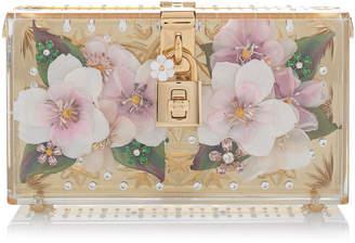 Dolce & Gabbana Crystal-Embellished Floral Clutch