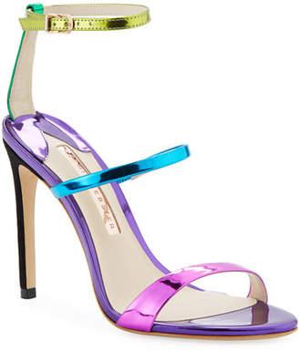 Sophia Webster Rosalind Satin Sphere-Heel Sandals