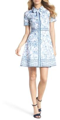 Gal Meets Glam Darla Cotton Toile Shirtdress