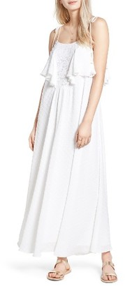 Women's Moon River Swiss Dot Maxi Dress $110 thestylecure.com