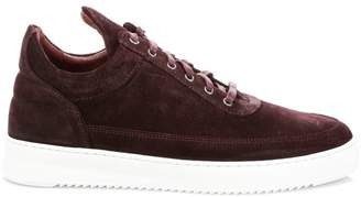 Filling Pieces Waxed Suede Sneakers