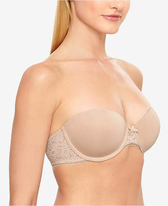 B.Tempt'd Modern Method Strapless Picot-Trimmed Bra 954217