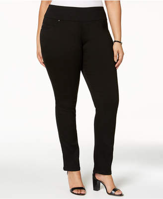 Lee Plus Size Pull-On Black Skinny Jeans