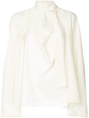 Lemaire bow tie neck blouse