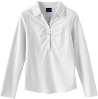 Chaps Girls 7-16 Stretch School Uniform Polo