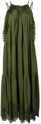 Apiece Apart ruffle-trim flared dress