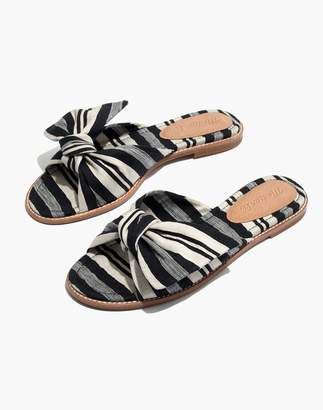 Madewell The Naida Half-Bow Sandal in Evelyn Stripe