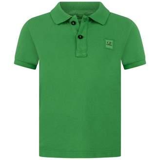 C.P. Company C.P. CompanyBoys Green Pique Polo Top