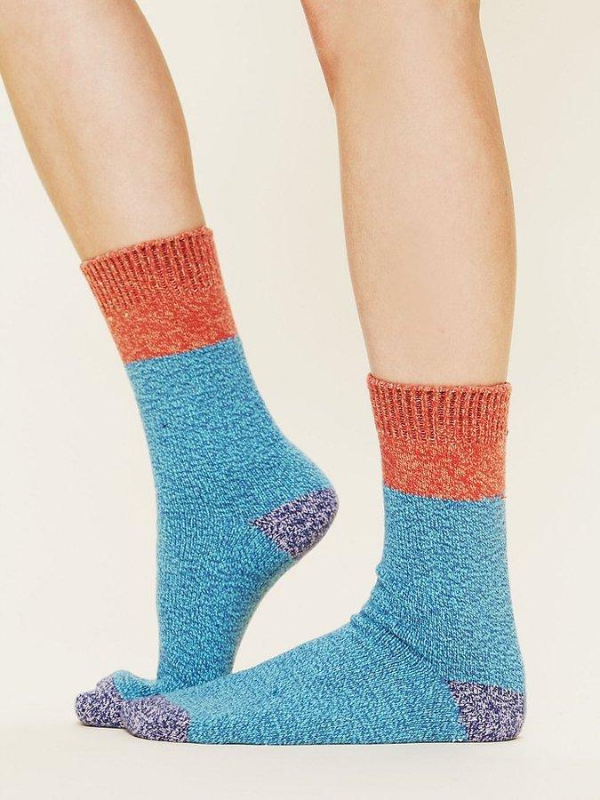 Free People Colorblock Boot Sock