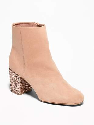 Old Navy Sueded Block Heel Boots for Women